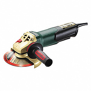 "Angle Grinder, 4-1/2"" Wheel Dia., 8 Amps, 120VAC, 10,500 No Load RPM, Paddle Switch"