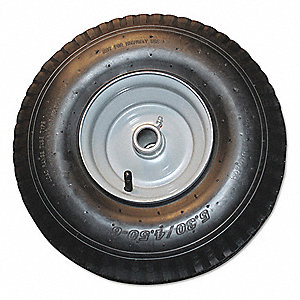 "Never Flat Tire,Rubber,14-1/2"" dia."