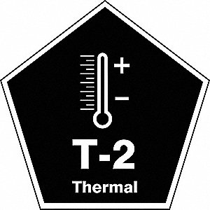 "Energy Source ID Tag, Vinyl, T-2 Thermal, 2-1/2"" x 2-1/2"", 1 EA"