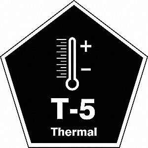 "Energy Source ID Tag, Vinyl, T-5 Thermal, 2-1/2"" x 2-1/2"", 1 EA"