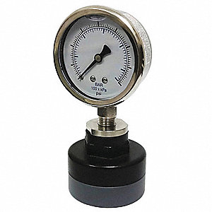 "2-1/2"" General Purpose with Seal Pressure Gauge, 0 to 100 psi"