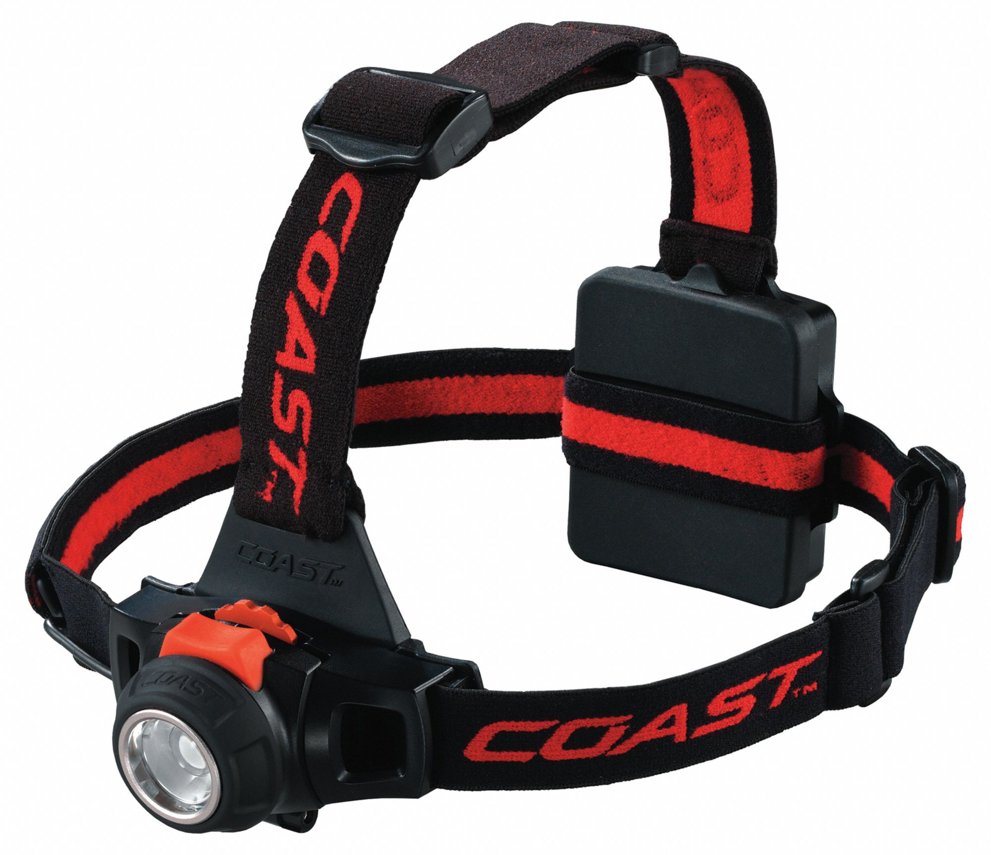 LED Headlamp, Plastic, 25,000 hr Lamp Life, Maximum Lumens Output: 330, Black