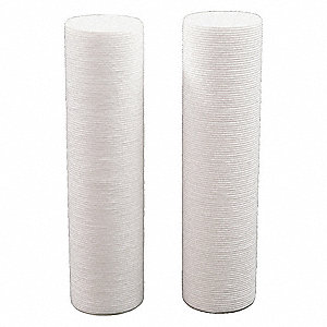 "1 Micron Rating Filter Cartridge, 2-1/2"" Diameter, 10"" Height, 8.00 gpm"