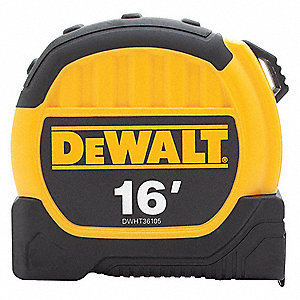 16 ft. Steel SAE Tape Measure, Yellow/Black