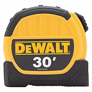 30 ft. Steel SAE Tape Measure, Yellow/Black