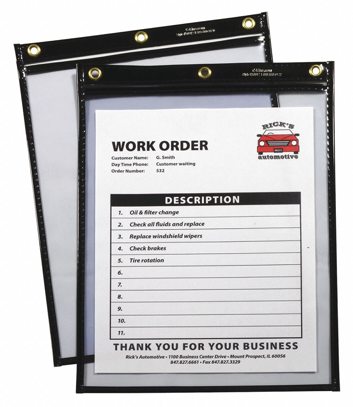 "Heavy Duty Shop Ticket Holder, 12""H, PK15"