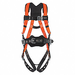 Titan II Full Body Harness with 400 lb. Weight Capacity, High Visibility Orange, S/M
