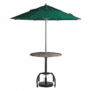 Windmaster Umbrella,9 ft.,Forest Green