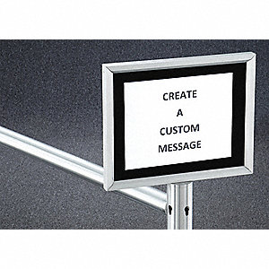 "14"" Aluminum Sign Frame, Silver"
