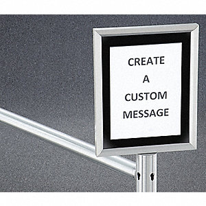 "11"" Aluminum Sign Frame, Silver"