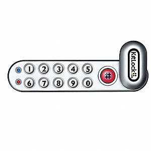 Zinc Alloy Electronic Keyless Lock with Keypad Access and Powder Coated Finish