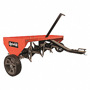 "48"" Lawn Aerator, Pin, Spike Dia. 5/8"", Aeration Depth 3"""