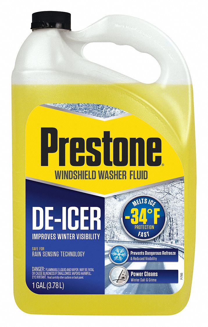Windshield Washer/De-Icer, 1 gal, Bottle, All Season, -34 °F Freezing Point (F)