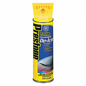 Windshield De-Icer, 17 oz., Aerosol Can, De-Icer, -58° Freezing Point (F)
