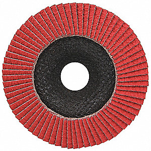 Mounted Flap Wheel,60 Grit,4-3/4in W,PK5