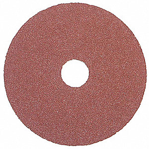 "4-1/2"" Coated Fiber Disc, 7/8"" Mounting Hole Size, Coarse, 50 Grit Aluminum Oxide, 25 PK"