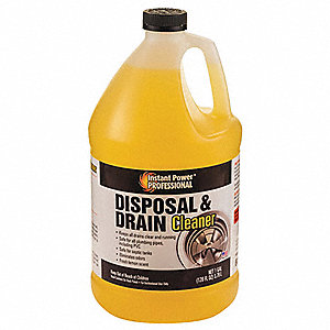 Disposal and Drain Cleaner, 1 gal. Bottle, Unscented Liquid, Ready To Use, 1 EA