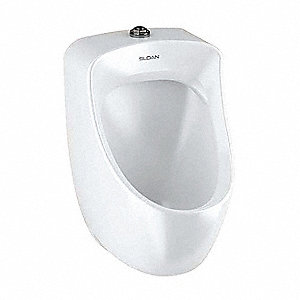 "Washdown Wall Urinal, 0.125 Gallons per Flush, 23-1/2""H x 14-3/16""W, White"