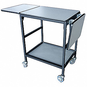 "Adjustable Height Work Table, Laminate, 26"" Depth, 35"" to 42"" Height, 68"" Width,200 lb. Load Capacit"