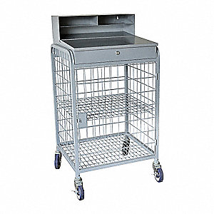 "Mobile Workstand, 24"" Depth, 49"" Height, 26-1/4"" Width,300 lb. Load Capacity"