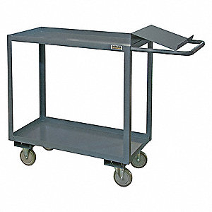"48""L x 24""W x 41""H Steel Order Picking Truck, 1200 lb. Load Capacity, Number of Shelves: 2"