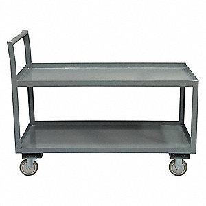 Low Deck Shelf Truck,1200 lb.,Steel,38in