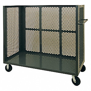 MESH 3-SIDED CART 2400 LB STL 66IN
