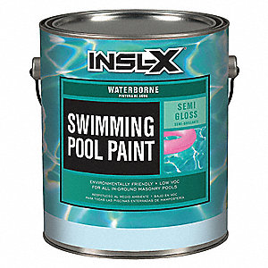 Aquamarine Paint, Semi-Gloss Finish, 300 to 400 sq. ft. Coverage, Size: 1 gal.