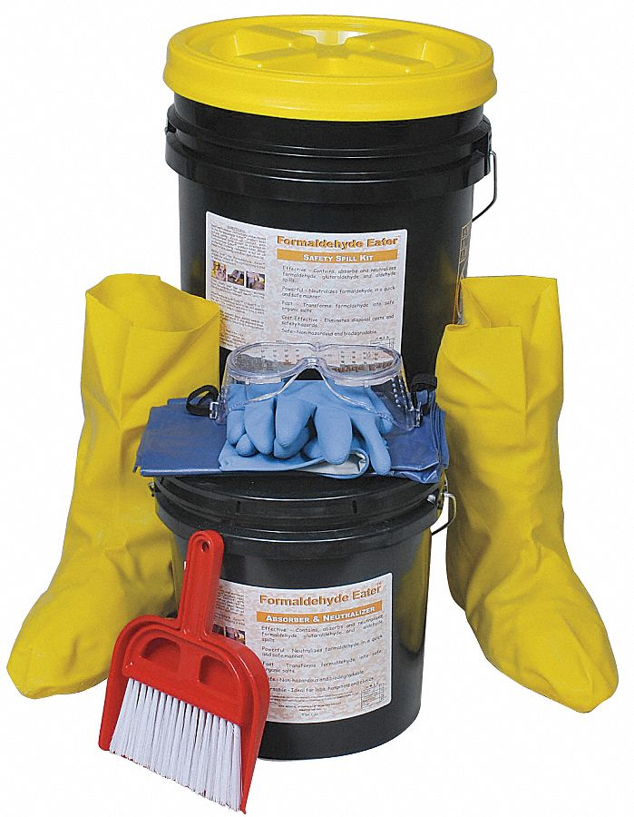 Spill Kit,  Neutralizes Chemical Type Formaldehyde,  Container Type Bucket