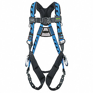 Full Body Harness,S/M,400 lb.,Blue