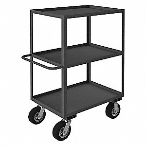 "45""H x 24-1/4""W x 41""D Rolling Instrument Cart, 1200 lb. Load Capacity, Number of Shelves: 3"