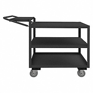 "52-3/8""L x 24-1/4""W x 40-1/4""H Steel Order Picking Cart, 1200 lb. Load Capacity, Number of Shelves:"