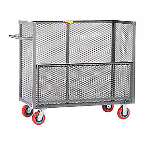 "54""L x 30""W x 45""H Gray Welded Drop-Gate Truck, 2000 lb. Load Capacity"