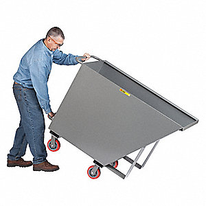 Tilt Truck, 3/4 cu. yd. Volume Capacity, 1500 lb. Load Capacity, Heavy-Duty Hopper Type