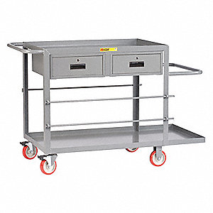 "24""W x 35""H Gray Wire Reel Cart, 1200 lb. Load Capacity"