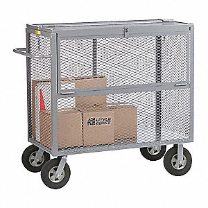 "54""L x 24""W x 50-1/2""H Gray Security Box Truck, 1500 lb. Load Capacity"