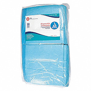 "Disposable Underpads, 23 x 36"", Package Quantity 150"