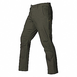 "Stretch Pants,Olive,32"" Size,30"" Inseam"