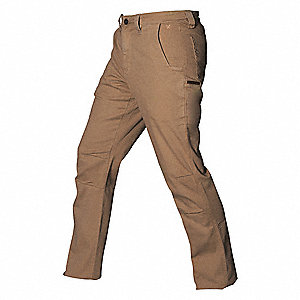 "Men's Stretch Pants. Size: 36"", Fits Waist Size: 36"", Inseam: 34"", Tobacco"