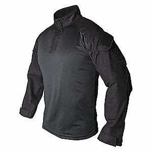 Tactical Shirt Long Sleeve,S,Black