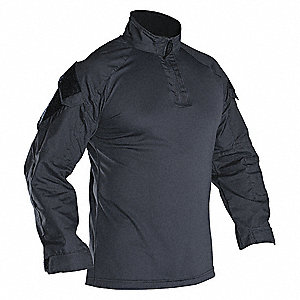 Tactical Shirt Long Sleeve, XL, Smoke Gray