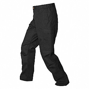 "Mens Pants,Black,52"" Size,36"" Inseam"