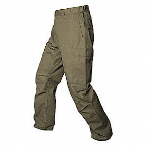 "Mens Pants,OD Green,32"" Size,36"" Inseam"
