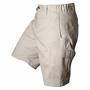 "Tactical Shorts, 34"" Size, Khaki, 4 Pockets"