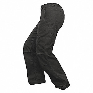 "Women's Tactical Pants. Size: 10"", Fits Waist Size: 10"", Inseam: 34"", Black"