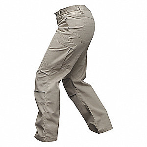 "Womens Pants,Khaki,10"" Size,32"" Inseam"
