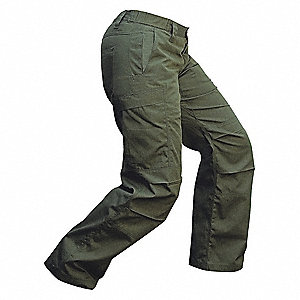 "Women's Tactical Pants. Size: 6"", Fits Waist Size: 6"", Inseam: 30"", OD Green"