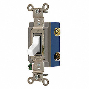 Wall Switch,15A,Wht,1/2 HP,4-Way Switch