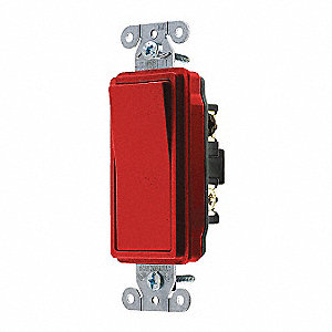 Wall Switch,20A,Red,1 HP,3-Way Switch