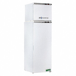 Upright Refrigerator with Freezer; High Performance; Cycle/Manual Defrost